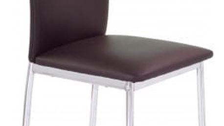 K137 - Jídelní židle (hnědá, stříbrná)