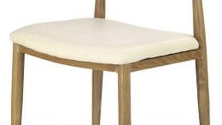 K221 - Jídelní židle (krémová, dub medový)