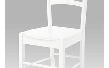Jídelní židle celodřevěná AUC-004 WT - bílá