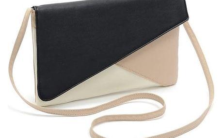 Dámská designová kabelka v obdélníkovém tvaru - 4 barvy