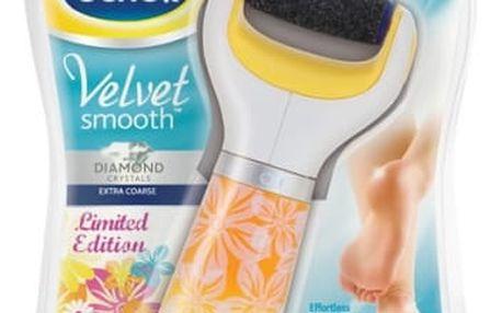 Elektrický pilník na chodidla Scholl Velvet Smooth Velvet Smooth Diamond Summer Edition žlutý