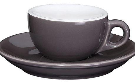 Cilio Espresso šálek s podšálkem Roma tmavěšedý 50 ml