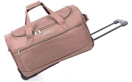 Světle růžová cestovní taška na kolečkách Hero,43l