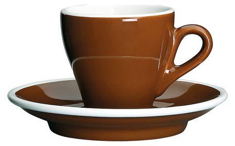 Cilio Espresso šálek s podšálkem Milano hnědý 50 ml