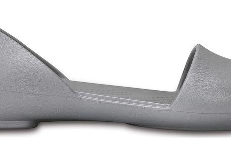 Crocs stříbrné sandály Crocs Lina Dorsay Flat - W9