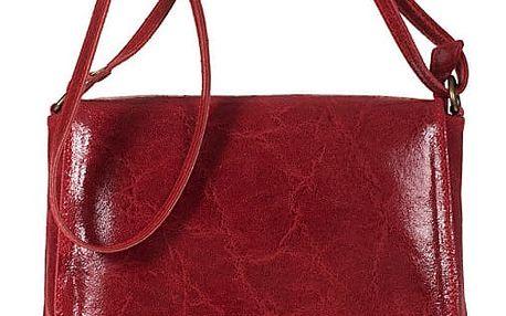 Červená kožená kabelka Giulia Bags Eireen - doprava zdarma!