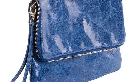 Modrá kabelka z pravé kůže Andrea Cardone Fiore - doprava zdarma!
