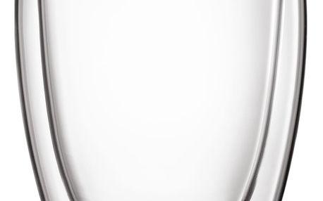Cilio Set skleněných šálků na kávu 350 ml 2 ks