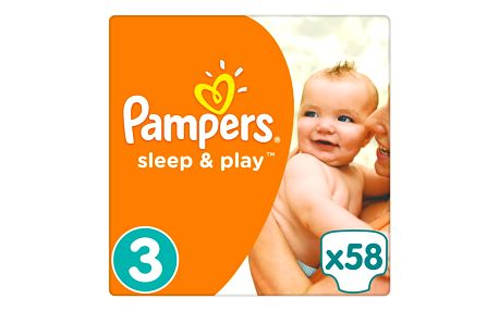 Pampers Sleep&Play , 3 midi 4-9kg, 58 ks