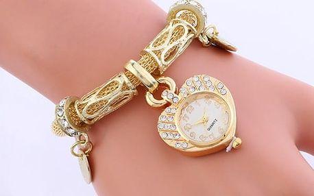 Luxusní dámské hodinky v provedení náramku s přívěskem