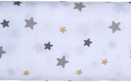 GLOOP Mušelínová plena 100X100 Stars (2ks)