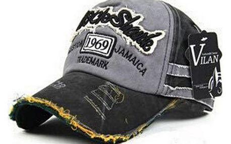 Letní baseballová čepice v módním otrhaném stylu