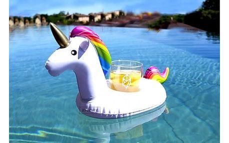 Nafukovací držák na pití do bazénu - jednorožec