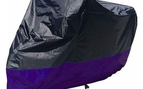 Ochranná plachta na motocykl v černo-fialové barvě