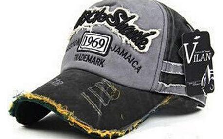 Letní baseballová čepice v módním otrhaném stylu - dodání do 2 dnů
