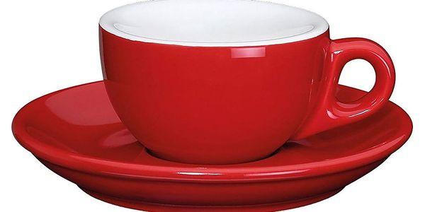 Cilio Espresso šálek s podšálkem Roma červený 50 ml