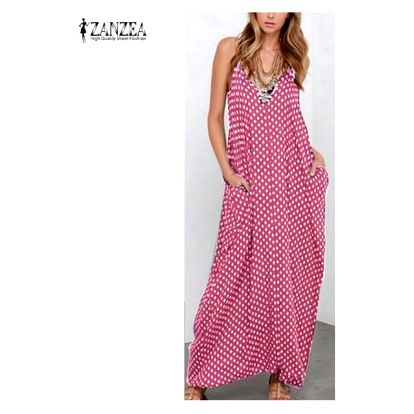 Letní šaty dlouhé - růžová, velikost 7