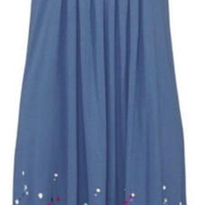 Lehké dlouhé květinové šaty pro ženy - modrá, velikost 4