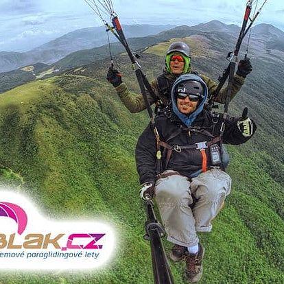 Tandemový paraglidingový let pro 1 osobu v Tchořovicích