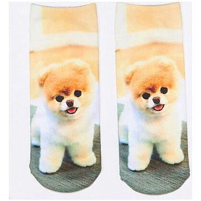 3D ponožky s roztomilými pejsky - dodání do 2 dnů