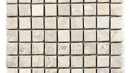Divero 1642 Mramorová mozaika Garth - krémová obklady 1 m2