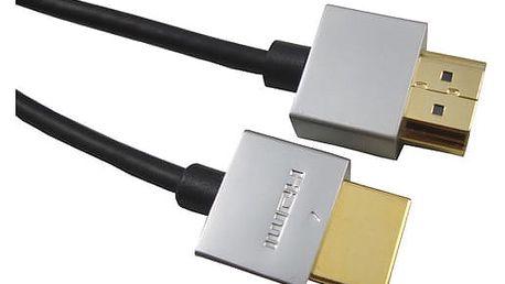 PremiumCord Slim HDMI + Ethernet kabel, 3m - 8592220011857