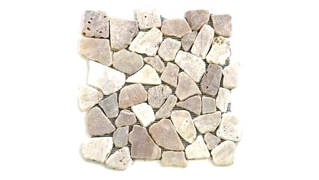 Divero 573 Mozaika říční kámen - krémová 1m2