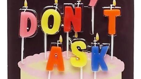 DON'T ASK Narozeninové svíčky