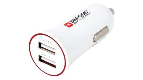 Skross USB nabíjecí autoadaptér SKROSS Dual USB Car Charger, 3400mA max, DC 12V - DC27