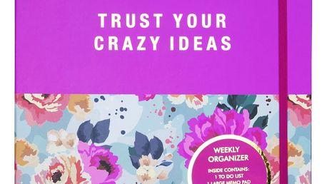 Kapesní týdenní plánovač Tri-CoastalDesign Trust Your Crazy Ideas