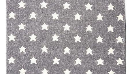 Šedý dětský koberec Happy Rugs Stardust, 80x150cm - doprava zdarma!