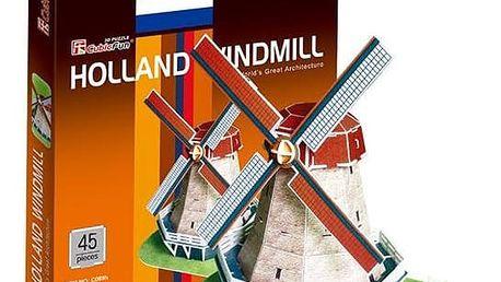 3D puzzle - Větrný mlýn v Holandsku