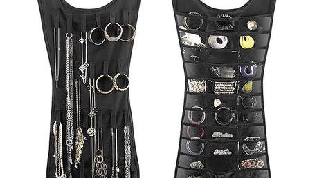 Organizér šperků ve tvaru šatů