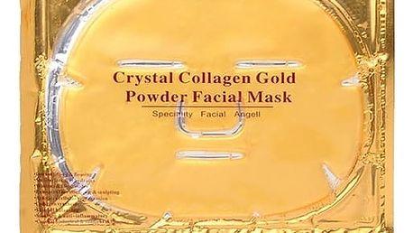 Zlatá kolagenová maska na obličej - 2ks