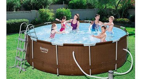 Bazén Bestway Steel Frame Pool 366 x 100 cm set s kartušovou filtrací