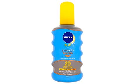 NIVEA Sun Olej na opalování Protect&Bronze OF20, 200 ml