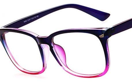 Módní brýle pro pány a dámy - fialová - dodání do 2 dnů