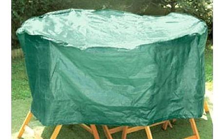 Plachta zakrývací CEV na zahradní nábytek kruh zelená