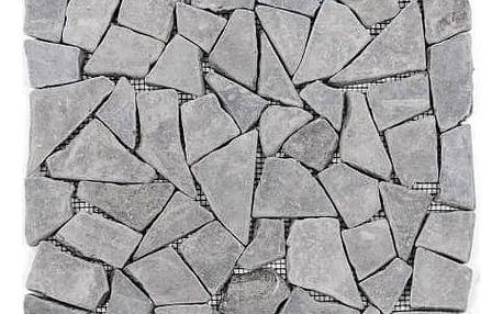 Divero Garth 792 Mramorová mozaika šedá, 1 m2 - 30x30x1 cm