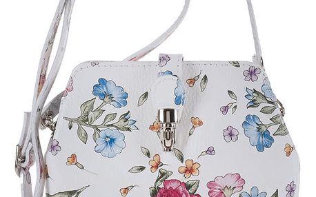 Bílá kožená kabelka Giulia Bags Felicita