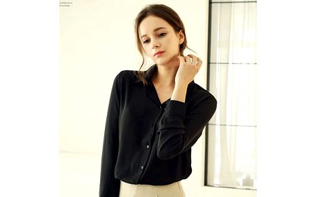 Dámská šifónová košile - černá, velikost 4
