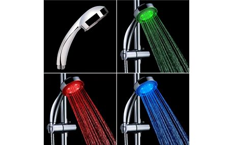 Barevná svítící LED sprchová hlavice