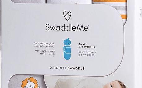 SUMMER INFANT Zavinovačka SwaddleMe Lvi/proužky 3ks