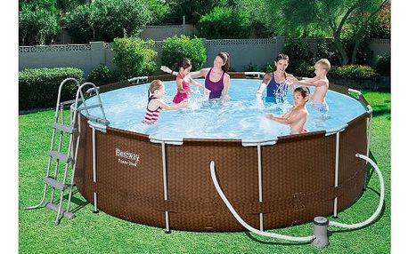 BESTWAY Rodinný bazén s konstrukcí Rattan 366 x 100 cm