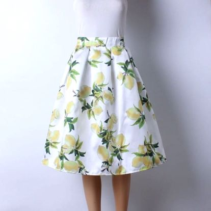 Skládaná delší sukně - vzor 4