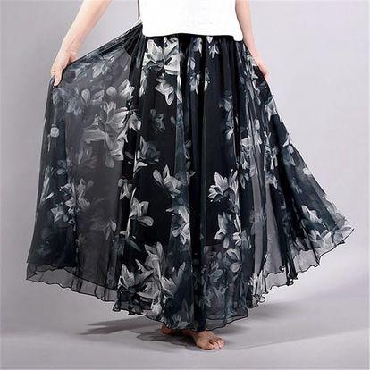 Lehoučká a vzdušná letní sukně - varianta 7, délka sukně 90 cm