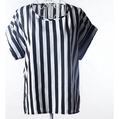 Volné šifonové tričko s veselým vzorem - velikost č. 6, varianta 4