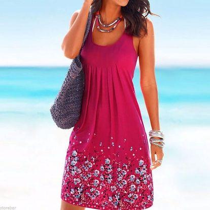 Dámské šaty na léto - prodyšné - růžová, velikost č. 4
