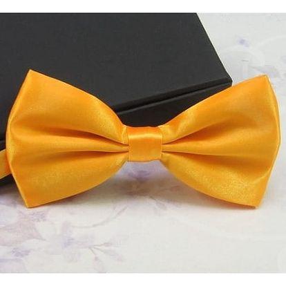 Stylový pánský motýlek - varianta 7, žlutá / zlatá barva