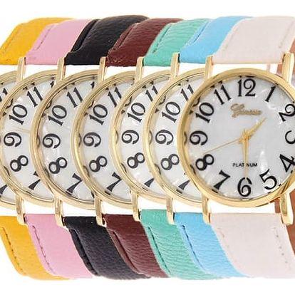 Dámské náramkové hodinky s výraznými čísly
